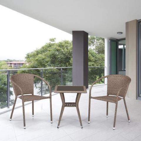 Комплект плетеной мебели из искусственного ротанга T25B/Y137C-W56 Light brown 2Pcs