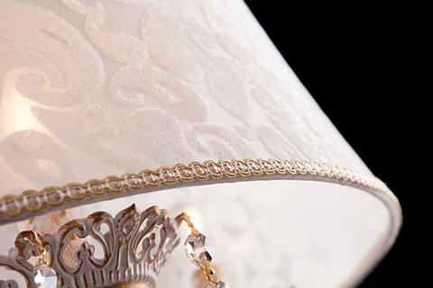 Люстра с хрусталем 10008/4 белый с золотом