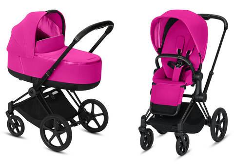 Детская коляска Cybex Priam III 2 в 1 Fancy Pink шасси Matt Black