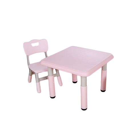 Пластиковый регулируемый квадратный стол + 1 стул