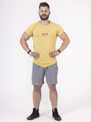 Мужская футболка Nebbia 142 mustard/black