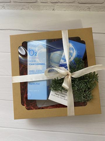 Подарочный набор из 3 предметов (кислород, коллаген)