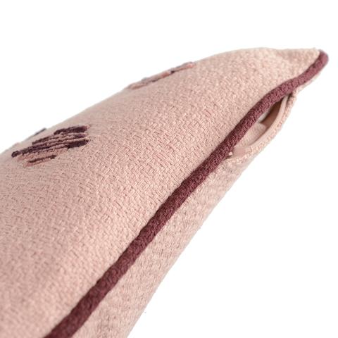 Подушка декоративная из хлопка цвета пыльной розы с контрастным кантом из коллекции Ethnic, 30х50 см