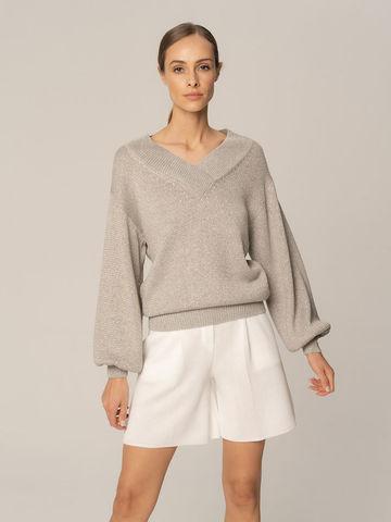 Женские шорты белого цвета из вискозы - фото 5