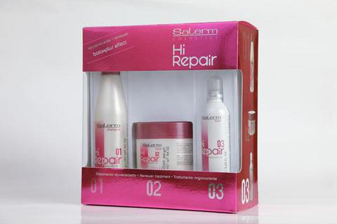 Набор для домашнего применения с ботокс-эффектом,Salerm Hi-Repair, 250 мл+250 мл+100 мл