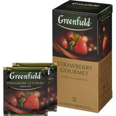 Чай Greenfield Strawberry Gourmet черный с клубникой 25 пакетиков