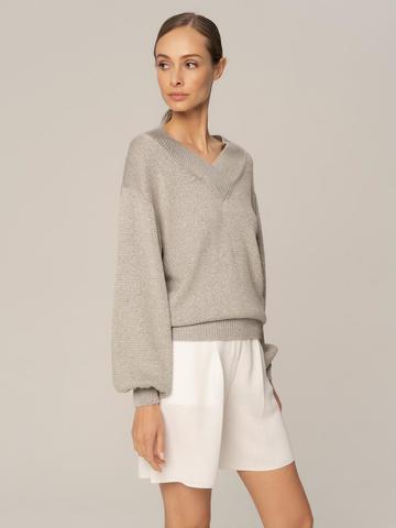 Женские шорты белого цвета из вискозы - фото 3