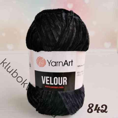 YARNART VELOUR 842, Черный