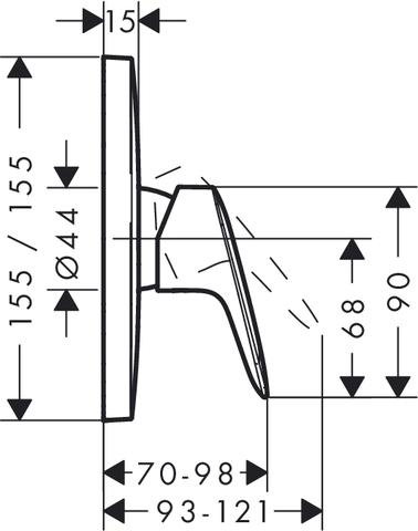 Смеситель для душа встроенный Hansgrohe Logis 71605000 схема