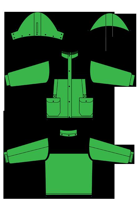 Выкройка костюма бригадир технический рисунок куртка