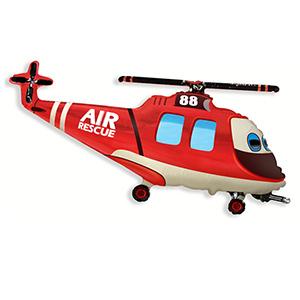 Фольгированный шар Вертолет спасателей 57см X 96см