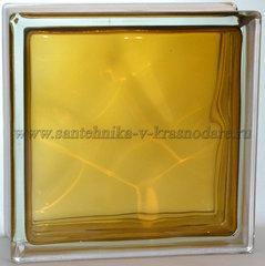 Купить стеклоблок коричневый волна окрашенный изнутри Vitrablok 19x19x8