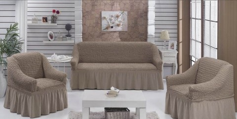 Набор чехлов на трехместный диван и два кресла Ercole