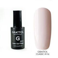 Grattol, Гель-лак 116, Light Cream, 9 мл