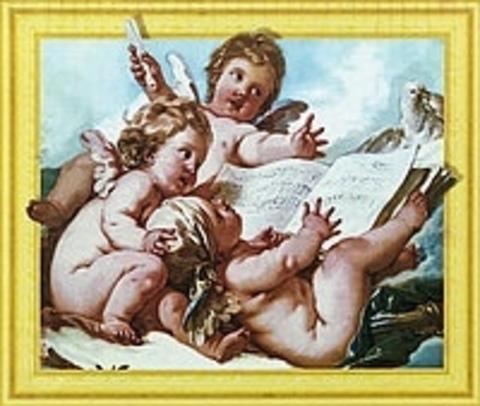 Алмазная Мозаика 5D 40x50 Ангелы с книгой (арт.LT0585)