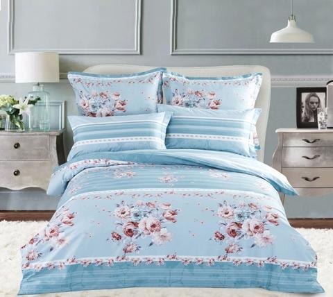 Сатиновое постельное бельё  1,5 спальное Сайлид  В-165