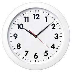 Часы настенные Troyka, модель 06, диаметр 500 мм, пластик 61610611