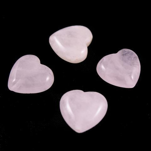 Кварц розовый бусины Сердце цена за 1 бусину