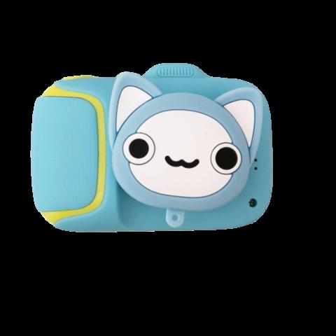 Детский фотоаппарат котик голубой