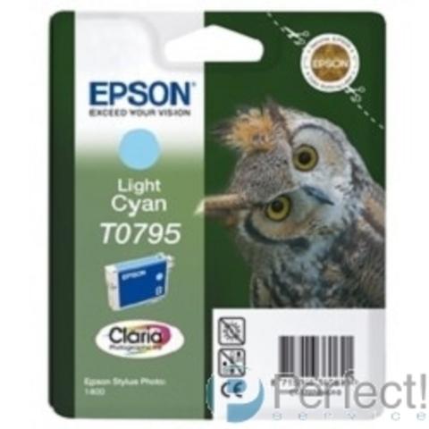 EPSON C13T07954010 T0795 светло-голубой повышенной емкости для P50/PX660/PX820/PX830 (cons ink)