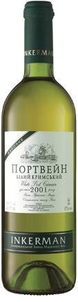 Вино Инкерман Портвейн Крымский белый крепкий 0,75л
