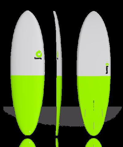 Серфборд TORQ 6'8'' Fun - Fifty Fifty (gray/green tail)