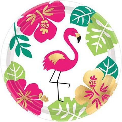 Тарелка ALOHA Фламинго 17см 8шт/А