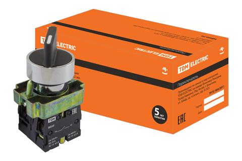 Переключатель BD33 черный 3 положения I-0-II стандарт. ручка 1з+1з TDM