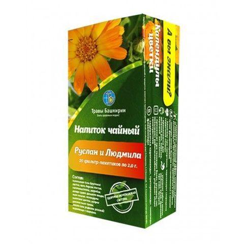 Чайный напиток РУСЛАН И ЛЮДМИЛА (ф/п 2,0г 20 шт),(Травы Башкирии)