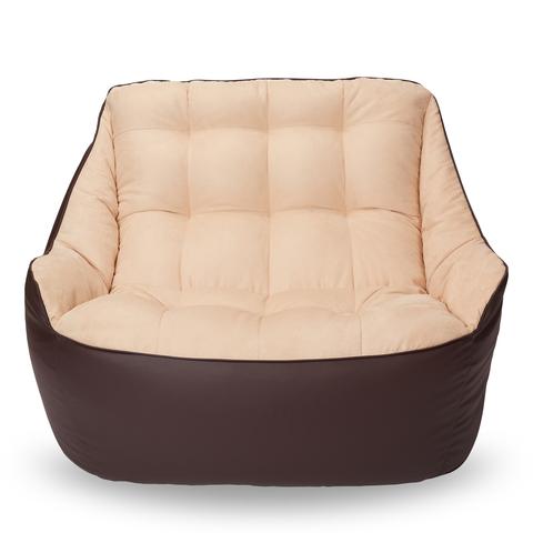 Бескаркасный диван «Босс», Коричневый и бежевый