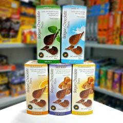 Шоколадные чипсы Belgian Chocolate Thins Caramel 80 гр