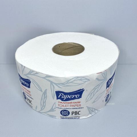 Туалетная бумага Papero Джамбо 2сл. 90 м белая (TJ033)