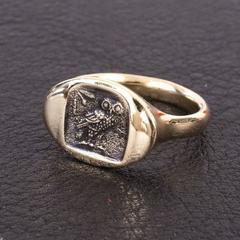 Сова Афины овал кольцо