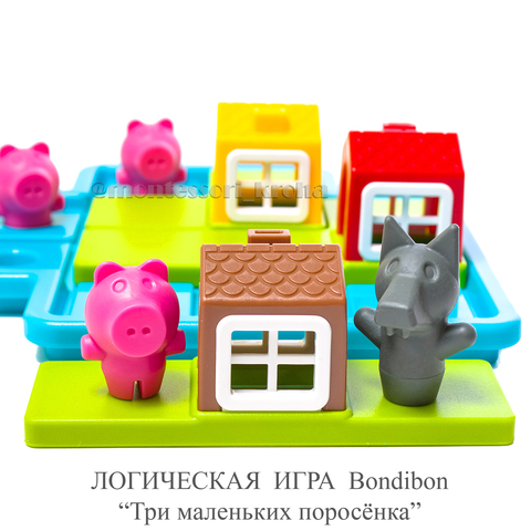 """ЛОГИЧЕСКАЯ ИГРА Bondibon """"Три маленьких поросёнка»"""