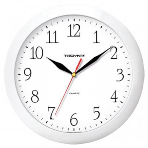 Часы настенные Troyka, модель01, диаметр 290мм,  пластик 11110113