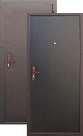 Дверь входная СтройГост Стройгост 7-1, 1 замок, 1 мм  металл, (медь антик+венге)