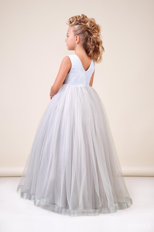 Платье серебристое для девочки 38-8035-2