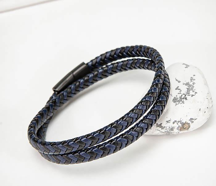 BM573 Двойной мужской браслет шнур из кожи