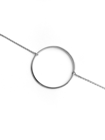 Серебряное колье с кольцом, 40 мм
