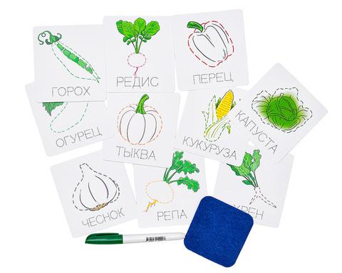 Карточки прописи Овощи, Smile Decor
