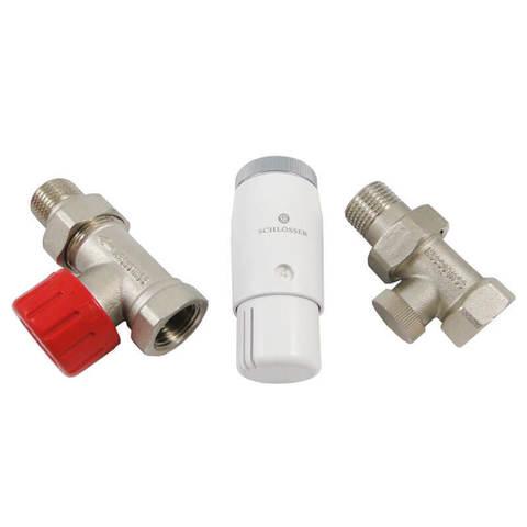 Комплект прямой, никель, DN 15 GZ1/2 x GW1/2 с головкой Мини M30x1,5