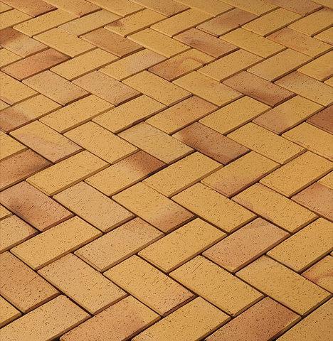 Vandersanden - Plauen, желтый обожженный, 200x100x45 - Клинкерная тротуарная брусчатка