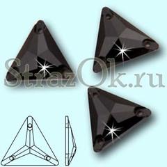 Стразы пришивные стеклянные Triangle Jet, Треугольник Джет, черный на StrazOK.ru