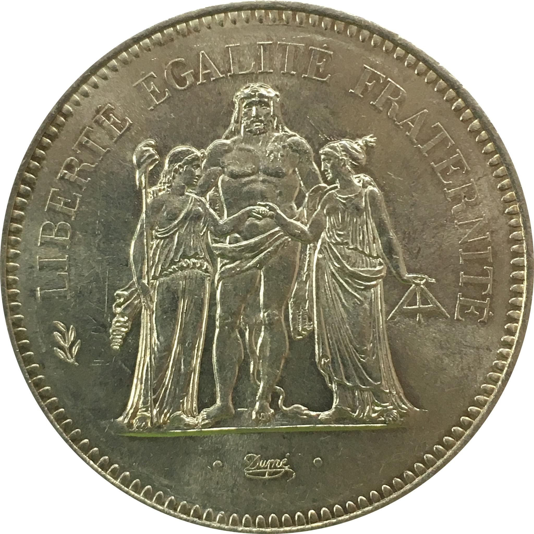 50 франков 1977 год (XF-AU)