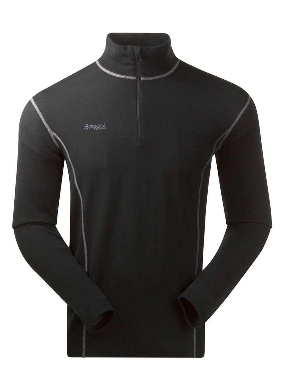Bergans термобелье футболка 1868 Akeleie Half Zip  Black