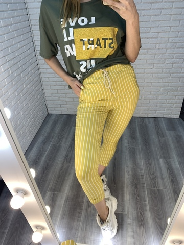 брюки в тонкую полоску nadya