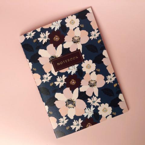 Тетрадь «Dark Blue Flower»