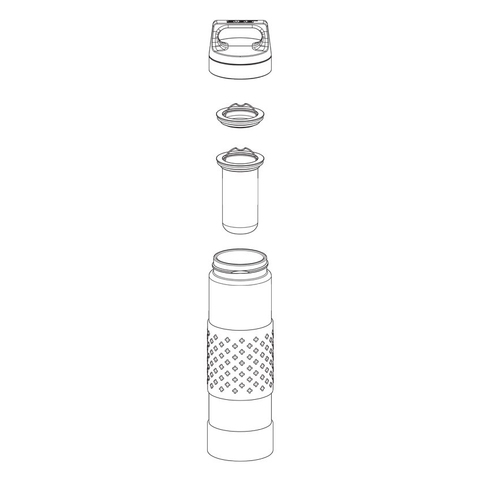 Термобутылка Sigg H&C Glass WMB Midnight (0,4 литра), синяя