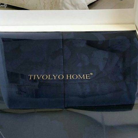 Постельное белье AMELFI синий жаккард deluxe TIVOLYO HOME Турция