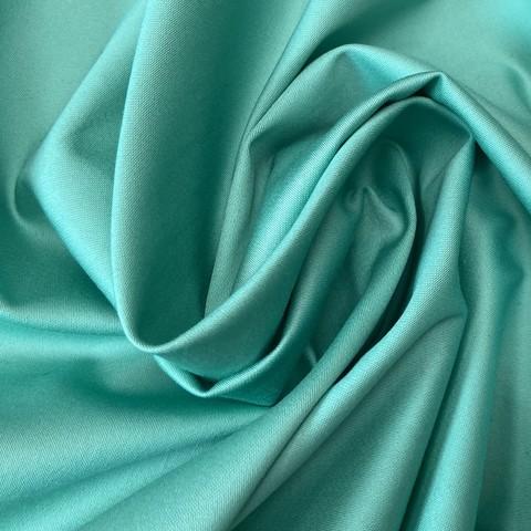 Ткань хлопок сатин с эластаном светло-зеленый 2051